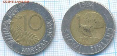 Финляндия 10 марок 1994 г. , до 29.08.2018 г. 22.00 по Москв - Финляндия 10 марок 1994  3364