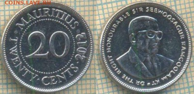 Маврикий 20 центов 2012 г. , до 29.08.2018 г. 22.00 по Москв - Маврикий 20 центов 2012  976