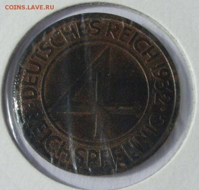 Германия, иностранщина (наборы, на вес, евро), царизм, СССР. - 4 пфеннига 1932 J - 1