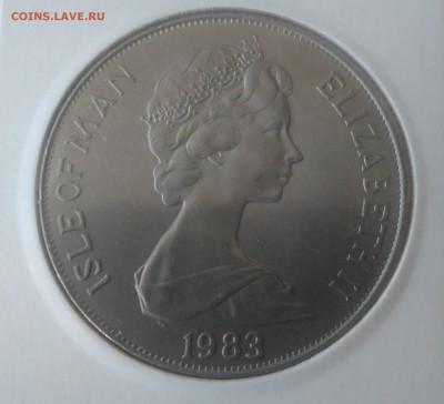 Авиация космонавтика на монетах - о Мэн 1 крона 1983 Шатл аверс