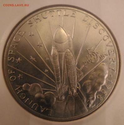 Авиация космонавтика на монетах - Маршаловы о-ва 5 дол 1988 шатл Дискавери реверс
