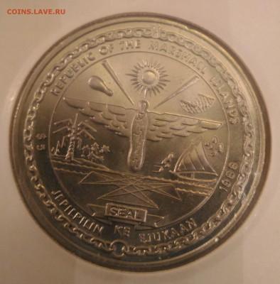 Авиация космонавтика на монетах - Маршаловы о-ва 5 дол 1988 шатл Дискавери аверс