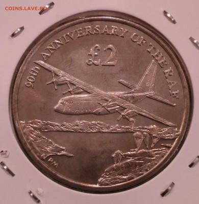 Авиация космонавтика на монетах - Южная Георгия 2 фунта 2008 90 лет королевских ВВС реверс
