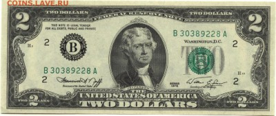 2 доллара 1976 г., -B-, США, пресс, до 22:00 15.10.18 г. - 2 доллара 1976 В-1