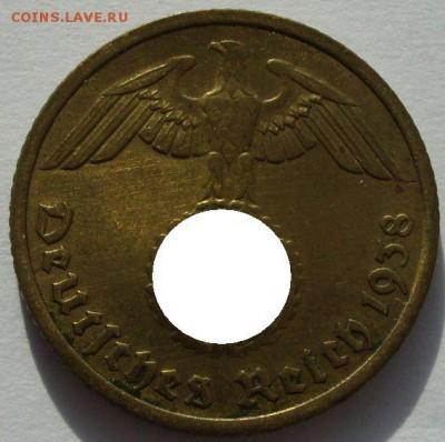 Германия, иностранщина (наборы, на вес, евро), царизм, СССР. - 10 пфеннигов 1938 G - 2-1