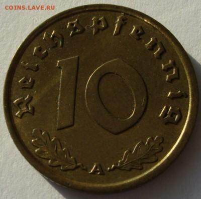 Германия, иностранщина (наборы, на вес, евро), царизм, СССР. - 10 пфеннигов 1938 A - 1