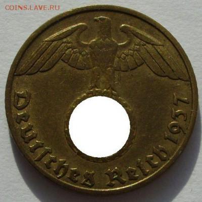 Германия, иностранщина (наборы, на вес, евро), царизм, СССР. - 5 пфеннигов 1937 J - 2-1