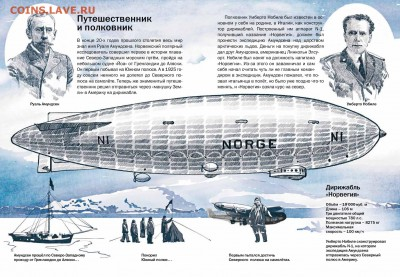 Авиация космонавтика на монетах - na_dirizhable_v_arktiku2