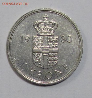 1 крона Дания 1980г. до 16-11-18 - 80