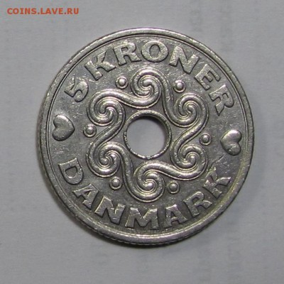 5 крон Дания 1994 г. до 16-11-18 - 5-94a