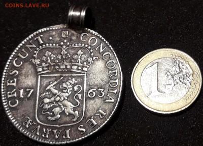Монетка с рыцарем 1763 год (Бельгия?) - тпв 014
