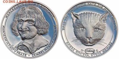 Кошки на монетах - Вацлав Холлар-4-1