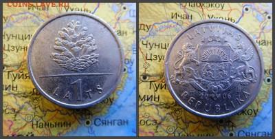 Латвия 1 лат, 2006 Шишка - 15