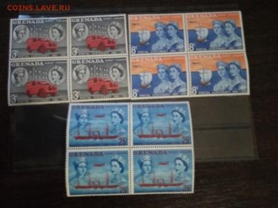 Британские колонии Гренада,полная серия квартблок 1961 - 78