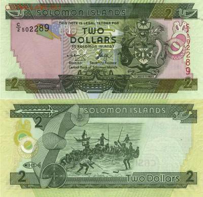 Соломоновы острова 2 доллара Пресс UNC - 105 руб - 1