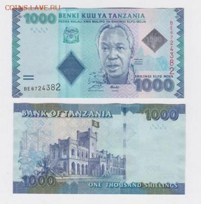 Танзания 1000 шиллингов 2010 год Пресс UNC - 65 руб - 10002010