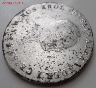 5 злотых1817г.IB.для Польши АлександрI в крыле орла 9 перьев - 3