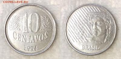БРАЗИЛИЯ 10 сентаво 1994 до 22 декабря 22-00 мск - БРАЗИЛИЯ 10 сентаво 1994 -605