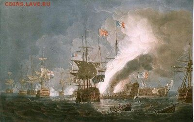 Монеты с Корабликами - Thomas_Whitcombe_-_The_Battle_of_the_Nile_1798