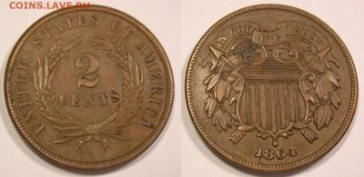 Монеты США. Вопросы и ответы - 2 цента 1864 (3)