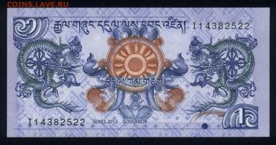 Бутан 1 нгултрум 2013 unc 09.01.19. 22:00 мск - 2