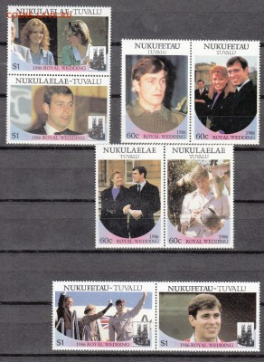 Н Тувалу 1986 королевская семья 8м - 67