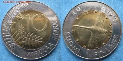 Финляндия 10 марок 1995  до 12-01-19 в 22:00 - Финляндия 10 марок 1995    188-ак13-4052