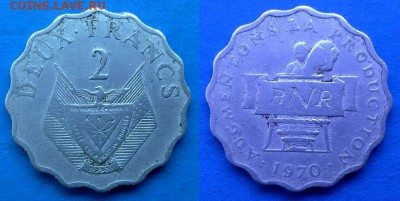 Руанда - 2 франка 1970 года (ФАО) до 12.01 - руанда 2 франка 1970 года