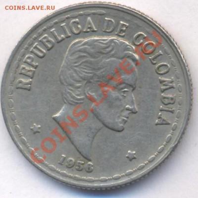 Колумбия 20 центавос 1956 г. До 3.06.11 г. 20-00 МСК. - Колумбия 56