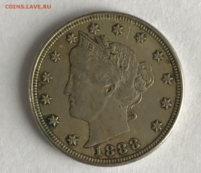 5 центов США 1888 XF до 22.00 МСК 21.01.2019 - E7105209-5C46-4479-9603-4E13E123935E