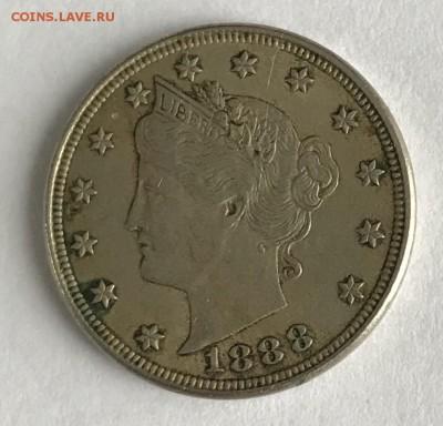 5 центов США 1888 XF до 22.00 МСК 21.01.2019 - C15A2F1E-58CA-4034-892E-3B9C505C2DCF