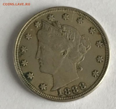 5 центов США 1888 XF до 22.00 МСК 21.01.2019 - 3C5A733F-7F07-48F3-885D-5852B62300E2