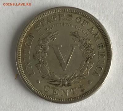 5 центов США 1888 XF до 22.00 МСК 21.01.2019 - 65457AE3-C24A-4971-8094-8651E3228A8B