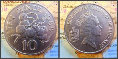 Гернси 10 пенсов, 1988 - 12