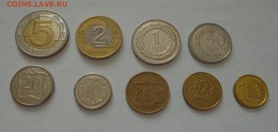 ПОЛЬША - полный набор ходячки 9 монет 2 БИМа до 3.02, 22.00 - Польша - набор ходячки 9 монет