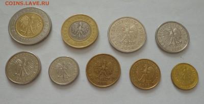 ПОЛЬША - полный набор ходячки 9 монет 2 БИМа до 3.02, 22.00 - Польша - набор ходячки 9 монет1