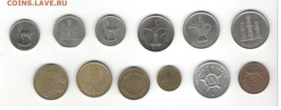 Иностранные монеты, 200 штук, 50 стран - ФИКС цены - Подборка иностранных, скан А, сторона 2
