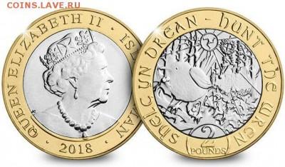 Биметаллические монеты Мира_новинки - 2018-Isle-of-Man-Hunt-the-Wren-CERTIFIED