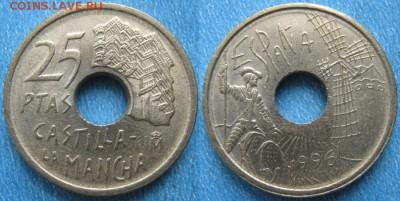 Испания 25 песет 1996 до 13-02-19 в 22:00 - Испания 25 песет 1996    186-АК2-4032
