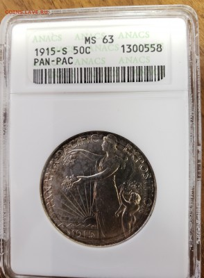 50 центов США Panama Pacific ANACS MS63 до 27.02 22.00 Мск - Pan1