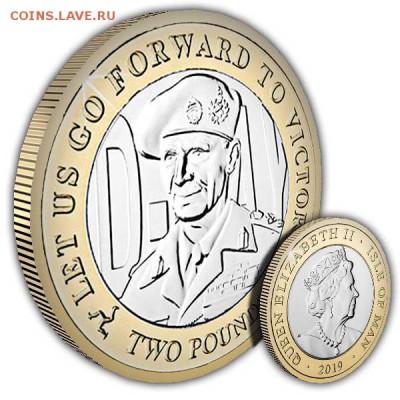 Биметаллические монеты Мира_новинки - Isle-of-Man-2019-D-Day-General-Bernard-Montgomery-Coin-1