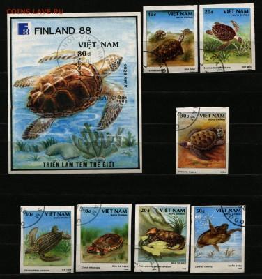 Вьетнам Динозавры Черепахи 1988 без зубцов  135 руб. - 49