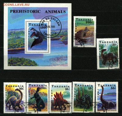 Танзания Динозавры 1991   155 руб. - 60