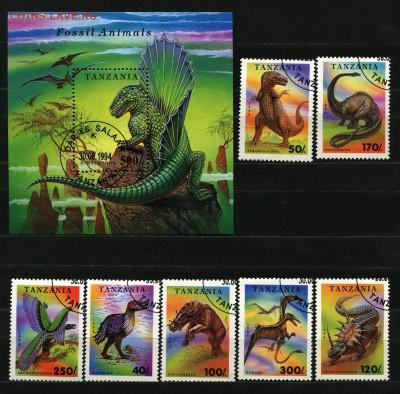 Танзания Динозавры 1994  115 руб - 62
