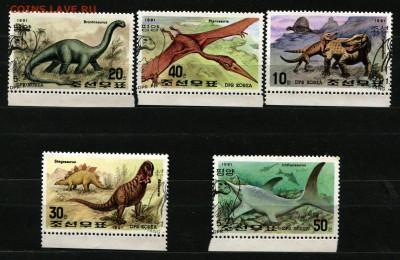 КНДР Корея Динозавры 1991 (2)   40 руб. - 64