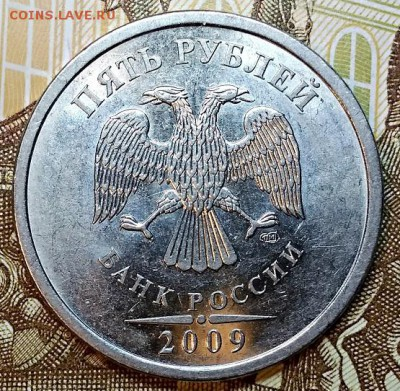 5 рублей 2009 СПМД какой штемпель? - 102559185