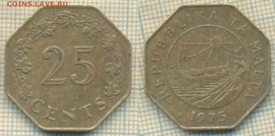 Мальта 25 центов 1975 г., до 04.03.2019 г. 22.00 по Москве - Мальта 25 центов 1975  5373