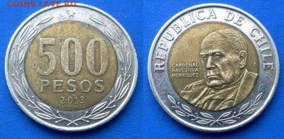 Чили - 500 песо 2013 года (БИМ) до 4.03 - Чили 500 песо 2013