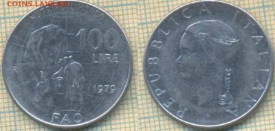 Италия 100 лир 1979 г. ФАО,до 12.03.2019 г. 22.00 по Москве - Италия 100 лир 1979  5478