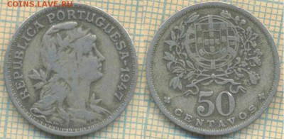 Португалия 50 сентаво 1947 г., до 12.03.2019 г. 22.00 по Мос - Португалия 50 сентаво  1947  5486